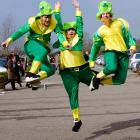 Three members of what appears to be the Green Bay Packers pass rush got jiggy with it on St. Patrick's Day in cheery old Cheltenham, England.
