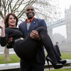 Speaking of picking up chicks, that's exactly what good ol' Carl did with Nadia the former Olympic gymnast, who certainly knows a well-executed move when she sees one. This one went down at London's Potters Fields Park on March 15.