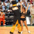 Meanwhile, the Wake Forest Demon Deacon put the moves on a fetchin' Florida State dancer...