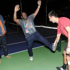 The funnyman, the TV personality and the tennis ace were spotted Djokovic-in' around at the BNP Paribas Open in fabulous Indian Wells, Calif.