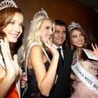 If you've ever wondered what former Olympic skiers do in their dull retirement, here's your answer: they get an  Eddie Munster hair-do , haunt beauty pageants like the Czech Miss World 2011 event, and czech out the likes of Denisa Domanska, Jitka Novackova and Sarka Cojocarova (left to right).
