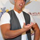 The WWE wrestler looks very much like a contender in the Upper Class Twit of the Year Competition ( CLICK HERE ) as he tours the art exhibit and auction at Fox Theatre in Atlanta.