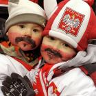 You gotta wonder about all the hormones in milk these days, especially when adorable urchins like these two sprout 'staches in tribute to the famed ski jumper, who bowed out at his farewell event in Zakopane, Poland.