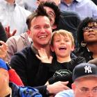 The revered musician-producer-television host enjoyed some hair-raising New York Knicks basketball with his son at the World's Most Famous Arena.