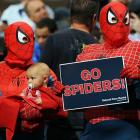 """""""Spider fans, Spider fans, friendly neighborhood Spider fans! Wealth and fame, they ignore. Action is their reward. To them, life's a great big bang up. Whenever there's a hang up, you'll find Spider fans!"""" -- apologies to The Ramones. (Photo from the 2011 NCAA men's hoops tournament at Pepsi Center in dandy Denver.)"""