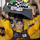 David Ragan earned the first Sprint Cup victory of his career Saturday night with a push from teammate Matt Kenseth that helped Ragan atone for one of the biggest gaffe's of his young career. He might have won the Daytona 500 when he lined up as the leader on a late restart. But he was penalized for passing too early, and the life-changing victory instead went to Trevor Bayne. Now he has a win of his own at Daytona International Speedway
