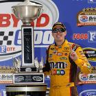 Kyle Busch can't be beat at Bristol Motor Speedway. Busch won the Sprint Cup on Sunday to complete a weekend sweep at the Tennessee bullring. He also won the second-tier Nationwide Series race on Saturday, and has won the last five races at Bristol dating back to a three-race sweep last August. It was Busch's fifth career Cup victory at Bristol - tying him with his older brother, Kurt, who also has five Bristol victories.