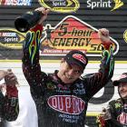 Jeff Gordon moved into a tie for third on NASCAR's Sprint Cup career victories list, winning for the 84th time when he took the checkered flag at the Tricky Triangle. His victories tie him with Bobby Allison and Darrell Waltrip for most in Cup history, and he tied Bill Elliott with five wins on the 21/2-mile track.