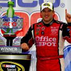 Tony Stewart snapped a 32-race losing streak by winning the opening race in the Chase for the Sprint Cup championship. The victory at Chicagoland Speedway in Joliet, Ill., was Stewart's third straight top-10 finish but his first win since October 2010. It lifted him to second in the standings behind Kevin Harvick, who finished second at Chicagoland.