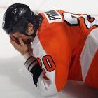 The rugged Flyers defenseman, an 18-year NHL veteran, five-time All-Star, and winner of the Hart and Norris trophies in 2000 took a stick to the eye during a game against Toronto on October 24, 2011. After sitting out six games, he returned and was hit hard into the boards in Phoenix. Trying to play two nights later in Winnipeg, he had to leave due to concussion symptoms and has not played since. With his NHL career likely over, Pronger spoke to SI.com's Brian Cazeneuve about his physical and emotional ordeal. You can watch the video by   CLICKING HERE    Here are 17 more notable cases of NHL careers cut short by head injuries.