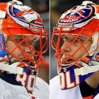 "Before being traded to Tampa Bay, Roloson entered his second season with the Islanders paying homage to the franchise's first mainstay goaltenders: Hall of Famer Billy Smith and Glenn ""Chico"" Resch. It was nice of Roli not to play favorites, seeing as Smith had a bit more prominent career, at least during the postseason."