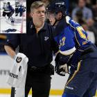 "In one of the first tests of the NHL's new Rule 48, Blues winger David Perron was concussed by a shoulder to the head from the big Sharks center. Perron kept playing and later scored a goal, but was sidelined indefinitely. Thornton was ejected and suspended two games, appealing the decision (he lost) and expressing confusion about what kind of hits are now legal: ""I braced myself for the hit and he just ran into me. That's all I thought had happened."" Thornton brother (and agent) said, ""The league once again failed to follow any precedent they have set when making disciplinary decisions. They stated this was most similar to the [Nick] Foligno hit [on Pat Dwyer earlier this season] which only resulted in a $2,500 fine."""