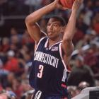 Caron Butler played two season for UConn. As a sophomore, he averaged 20 points and eight rebounds per game and led the Huskies to both regular season and tournament Big East titles.