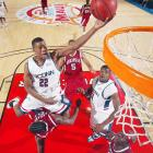 Rudy Gay burst onto the scene in 2004-05, winning Big East Freshman of the year (with Jeff Green) and earning an invitation to play for the USA's Men's Under-21 World Championship Team. In his sophomore year, Gay was a finalist for Naismith College Player of the Year. He was selected eighth overall in the 2006 draft by Memphis.