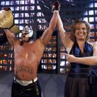 The WWE made its return to Rosemont, Ill., one of the sites of WrestleMania II, for its annual extravaganza. In this photo, Vicki Guerrero holds up the arm of Rey Mysterio after his victory over Randy Orton and Kurt Angle for the World Heavyweight Championship.