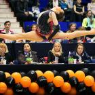 Jury members looked on grimly as the Bulgarian sprite flitted about at the International Rhythmic Gymnastics Irina Deleanu Trophy competition in beautiful Bucharest.