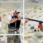 We hear MMA is now allowing the use of firearms in selected matches, so ol' Randy took him some target practice at the NRA Country/ACM Celebrity Shoot at Nellis Air Force Base in Las Vegas. No word on which celebrities were shot.