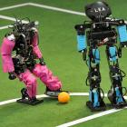 The future of the beautiful game was on display in Magdeburg, Germany where Darmstadt University of Technology (pink) edged the Free University of Berlin to qualify for the Robosoccer World Cup in Istanbul. Rumor has it that struggling Arsenal of the Premier League has pitched lucrative contract offers at these two booters, who go by the names Gort and Lea.