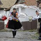 Fun Fact to Know and Tell: Part of traditional Easter celebrations in Hungary is this tribal fertility rite rooted in the area's pre-Christian past. As we understand it, after their dousing at the hands of leering local lads, the dewy dames sprout buds and blossoms, thereby beautifying the landscape. And no water balloons are harmed in the process.