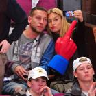 The Israeli stunner and and her guest,  the dreaded Flying Glove of  Yellow Submarine  fame , attended the Washington Capitals vs New York Rangers playoff shinny game at Madison Square Garden on April 20.