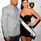 The Patriots safety and Miss USA at the Cantamessa Jewels U.S. launch where they posed for this attractive full color photograph.