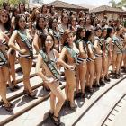 Fifty fetching females in Manila rocked the swimwear while fighting for the right to represent the Phillipines in the Miss Earth beauty pageant.