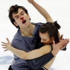 Meagan Duhamel and Eric Radford of Canada prove that the NHL has not cornered the market on headshots.