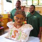 At a Subway in New York, the Giants' vaunted defensive end and the Saints' new first-round pick served up a life-sized bust of Ingram made from chicken salad and other sumptuous ingredients in anticipation of the Alabama running back's future enshrinement in Canton where visitors to the Pro Football Hall of Fame will someday need napkins.