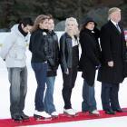 Trump joins figure skaters Tanith Belbin, Benjamin Agosto, Shizuka Arakawa and Oksana Baiul at a benefit for the Figure Skating in Harlem program in Central Park.