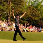 Charl (Schwartzel) was in charge on the back nine of the 2011 Masters. The South African birdied the last four holes to win his first green jacket with a 14-under total.