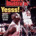 """In Game 1 of the Finals, Jordan torched the Blazers for a playoff-record 35 first-half points, including six three-pointers (he made only 27 the entire regular season), as the Bulls rolled 122-89. After one hoop, he looked toward the sideline, turned his palms upward and shrugged, as if to say,  What can I tell you?  He finished with 39 points on 16-of-27 shooting. """"The best game I've seen Michael play,"""" teammate Horace Grant told reporters afterward."""