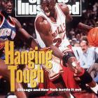 Amid scrutiny of a gambling trip to Atlanta City earlier in the series, and coming off a 3-of-18 performance in Game 3 of the Eastern Conference finals, Jordan rebounded to blitz the Knicks for 54 points as Chicago evened things at 2-2. Then, in Game 5, Jordan produced his second career triple-double, with 29 points, 10 rebounds and 14 assists, to lift the Bulls to a 97-94 victory. Chicago closed out the series two nights later, completing its comeback from a 2-0 deficit.