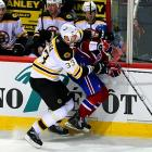 "The NHL's most bitter rivalry entered a new chapter in the 2011 postseason. Here are a baker's dozen of its most memorable moments.    Late in the second period, Boston's 6'-9"", 255-pound defenseman Zdeno Chara drove the head of Canadiens forward Max Pacioretty into a turnbuckle between the team benches in Montreal's Bell Centre. Pacioretty suffered a severe concussion and fractured vertebra, but Chara received only a game misconduct penalty. Canadiens fans, and the team's owner, were outraged that the NHL did not hand down a stiff suspension, and local police opened a criminal investigation into the hit.  Click here to watch the video."