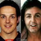 Danny Briere  - Philadelphia Flyers right wing  Paul McCartney  - musician