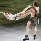 """Nathalis Pechalat and Fabian Bourzat of France performed to, let us guess. . .  """"Jungle Love"""" by the Steve Miller Band   . . . at the big ice show in Seoul, South Korea on May 6."""