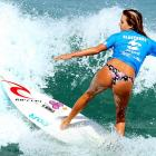 In this week's exciting installment of our award-winning series  Swimwear in Action! , Alana Blanchard reveals what happens when you get behind in the competition at Barra da Tijuca beach in Rio de Janeiro.