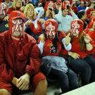 Anaheim's favorite major league baseball team provided fans with a stirring variation on the standard paper bag variety of headgear during a game against the Pale Hose of Chicago on May 10.