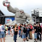 A sign of the End Times at Dover International Speedway.