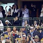 Nun are as passionate as these gals praying for the Brew Crew to get some exorcise against the Washington Nationals on May 25 in Milwaukee. Yea verily, the Brewers won, 6-4.
