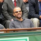 San Antonio Spurs point guard Tony Parker attends the French Open.