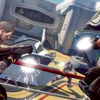 Brink is a third-person shooter that takes places on a futuristic island, The Arc, where the last of civilization is falling apart. Users can choose to play on the side of the rebels, who want out of The Arc, or the security force, which is determined to keep everyone in.  Before you start the campaign you create a character from among three body types. The skinnier type is faster, but can sustain less damage. Conversely the larger type is slower, but can take more damage. Within each level you pick among four classes: soldier, medic, operative and engineer. On each level you're able to change classes, and generally you'll need to do so to achieve mission objectives. Between the types and classes Brink is successful in creating an environment where you can define your playing style.  Player movement is handled in the traditional manner, but Brink features a one-button dynamic that allows you to hurdle forward over objects and climb very smoothly. It's especially ideal for the skinny characters who can reach elevated spots and move faster. The map designs are pretty good, though there's not as much variety as you'd expect.   As you progress in the campaign mode or in multiplayer, you'll level up and get access to better weapons and abilities. You can play the campaign with AI bots or with humans online. The AI is pretty awful, so playing with others is a superior experience.  The graphics and sound design are somewhat underwhelming, as the textures and colors are murky and not very interesting. Ultimately, the game has a lot of cool options but feels unfinished.  Score: 7 out of 10