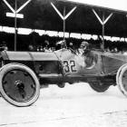 Driving his No. 32 Marmon Wasp, Ray Harroun won the inaugural Indy 500. He blew a tire midway through the race but recovered to win the $10,000 prize.