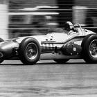 Foyt races down the stretch at more than 170 miles per hour as he takes the first of his four Indy 500 titles. He caught Eddie Sachs with three laps to go and beat him across the line by 8.5 seconds.