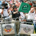 The green flag was waved shortly after noon.