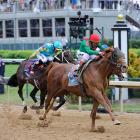 But John Velazquez rode Animal Kingdom to the lead with a late charge.