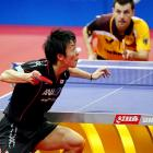Unfortunately for Japan's Kenji Matsudaira, the world table tennis championships doesn't award extra points for balancing the ball on your nose.