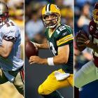#1: Alex Smith (Utah), San Francisco 49ers #24: Aaron Rodgers (California), Green Bay Packers #25: Jason Campbell (Auburn), Washington Redskins