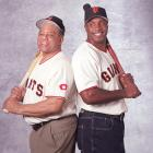 Mays poses with his Godson, Barry Bonds during a 2004 SI photo shoot.