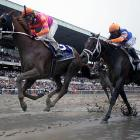 It was the first Belmont Stakes for jockey Jose Valdivia Jr. (left)
