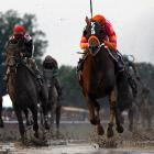 Ruler On Ice (center) didn't even take part in the Kentucky Derby or the Preakness Stakes.
